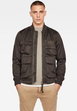 G-Star - MULTIPOCKET SOFTSHELL - Giubbotto Bomber - raven/antic auburn