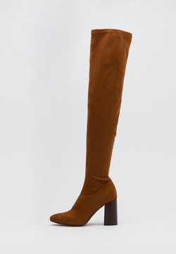 ONLY SHOES - ONLBRODIE LIFE STACKED BOOT  - Muszkieterki - cognac