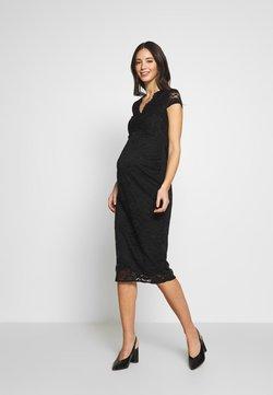 Dorothy Perkins Maternity - V NECK BODYCON DRESS - Vapaa-ajan mekko - black
