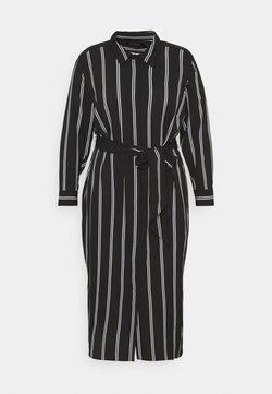 Lauren Ralph Lauren Woman - RYNETTA LONG SLEEVE CASUAL DRESS - Blusenkleid - black/white