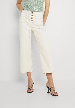 Trendyol - Spodnie materiałowe - ecru