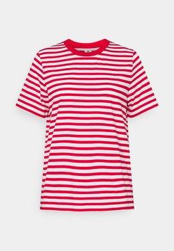 ARKET - T-Shirt print - red/white