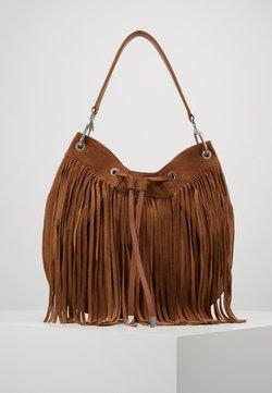 HUGO - SIENNA HOBO FRINGE - Shopping Bag - med brown