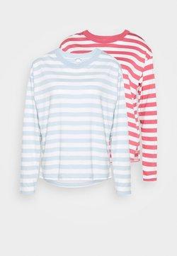 Monki - MAJA 2 PACK - Langarmshirt - blue/pink