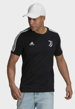 adidas Performance - JUVE 3S TEE - Vereinsmannschaften - black/white