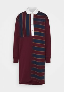 Tommy Hilfiger - ICON OVERSIZED RUGBY DRESS  - Vestito estivo - deep rouge