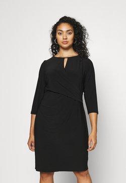 Lauren Ralph Lauren Woman - CARLONDA LONG SLEEVE DAY DRESS - Vestido ligero - black