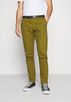 Scotch & Soda - STUART PEACHED WITH GIVE AWAY BELT - Chinot - military green