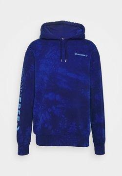 Converse - HOOD CHEVRON WASHED - Bluza z kapturem - rush blue