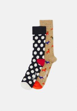 Happy Socks - PUPPY LOVE BIG DOT 2 PACK UNISEX - Socken - multi