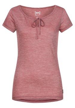 super.natural - RELAX TEE - T-Shirt print - rubinrot