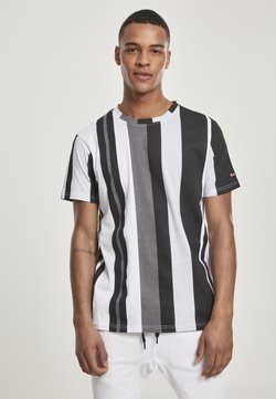 Southpole - VERTICAL BLOCK - T-shirt con stampa - black