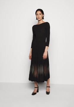 Patrizia Pepe - DRESS SEE THROUGH - Sukienka dzianinowa - nero