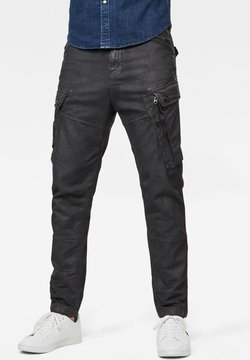 G-Star - ROXIC STRAIGHT TAPERED  - Cargohose - dk black soft cobler