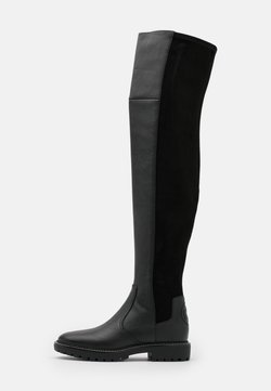 Tory Burch - MILLER LUG SOLE BOOT - Overknees - perfect black