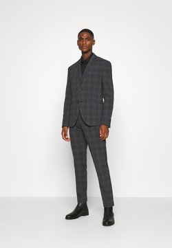 Isaac Dewhirst - BOLD CHECK 3PCS SUIT - Costume - dark blue