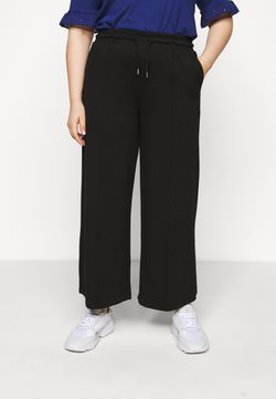 Selected Femme Curve - SLFDODY WIDE ANKLE PANT - Broek - black