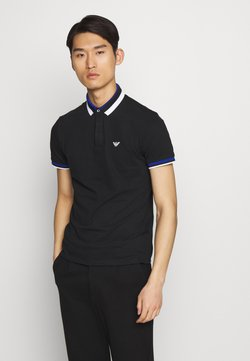Emporio Armani - Polo shirt - black/blue