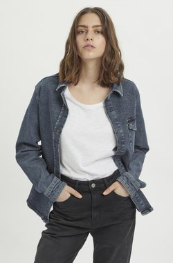 My Essential Wardrobe - Camisa - medium blue retro wash