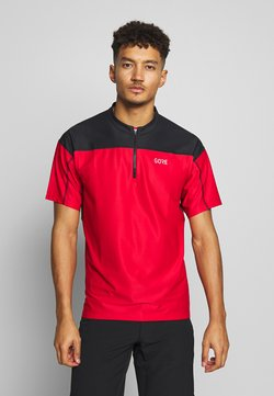 Gore Wear - ZIP - T-Shirt print - red/black