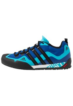 adidas Performance - TERREX SWIFT SOLO - Climbing shoes - royal blue/core black/signal cyan