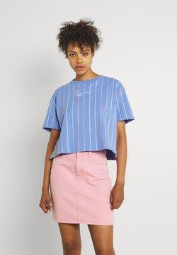 Karl Kani - SMALL SIGNATURE SHORT PINSTRIPE TEE - T-Shirt print - blue
