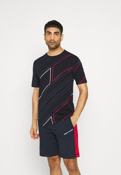Tommy Hilfiger - GRAPHIC ALL OVER TEE - Printtipaita - blue