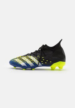 adidas Performance - PREDATOR FREAK .1 FG UNISEX - Chaussures de foot à crampons - core black/footwear white/solar yellow