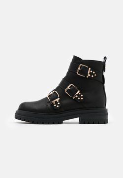 Shoe The Bear - FRANKA STRAPPY - Cowboy-/Bikerstiefelette - black