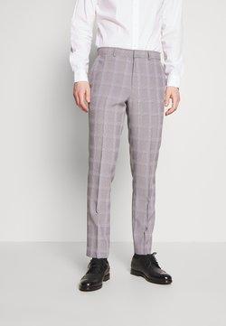 Burton Menswear London - GRAPHIC CHECK - Puvunhousut - grey