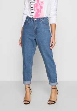 Missguided Petite - RIOT HIGHWAIST PLAIN MOM JEAN - Jeans Skinny - blue