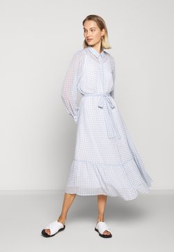 Bruuns Bazaar - CHECKS KORA DRESS - Vestido camisero - light blue