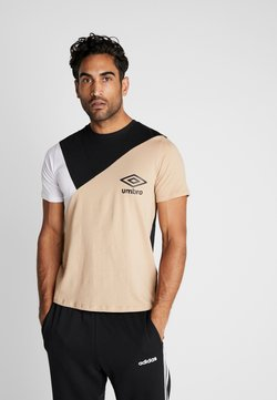 Umbro - COLOURBLOCK TEE - T-Shirt print - black/brilliant white