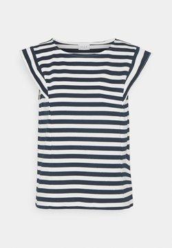 Vila - VITINNY CAP SLEEVES  - T-Shirt print - snow white/navy blazer