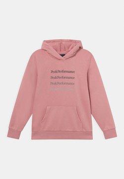 Peak Performance - JR GROUND HOOD UNISEX - Sweatshirt - warm blush
