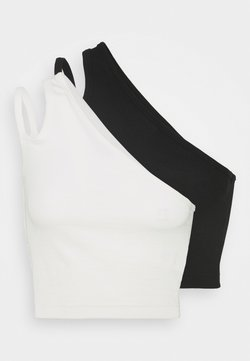 Weekday - STRAP CROP 2 PACK - Top - off white/black