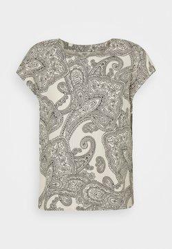 Object - OBJADILLA TOP - T-shirt con stampa - sandshell/sky captain