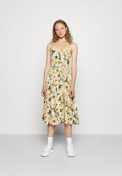 Mavi - BUTTON DRESS - Freizeitkleid - multi-coloured/light yellow