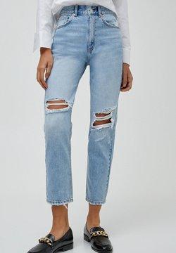 PULL&BEAR - MOM - Jeans Relaxed Fit - mottled light blue