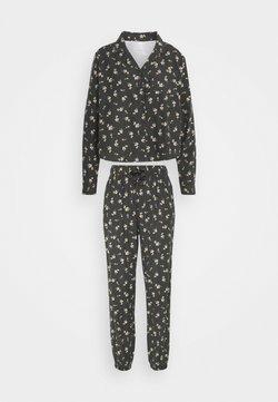 Cotton On Body - SLEEP PANT SET - Pigiama - spriggy washed black