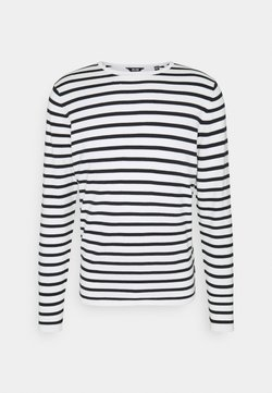 Only & Sons - ONSWILSON STRIPE CREW - Strickpullover - star white
