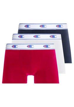 Champion - BOXER LOGO 3 PACK - Shorty - white/red/dark blue
