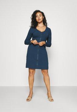 Glamorous Curve - ZIP THROUGH LONG SLEEVE DRESS - Vestido de punto - navy
