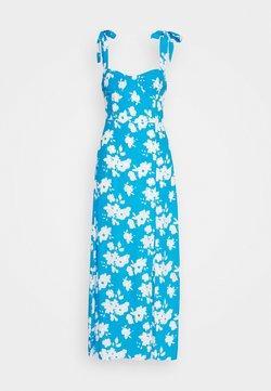 Glamorous - FLORAL DRESS - Maxikleid - blue/white