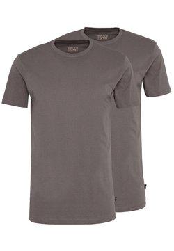 Esprit - 2 PACK - Basic T-shirt - dark grey