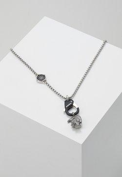 Diesel - SINGLE PENDANT - Halskette - black/silver-coloured
