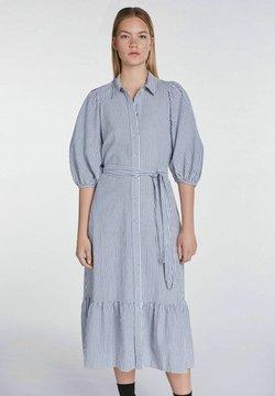 SET - MIT STREIFEN - Blusenkleid - blue white
