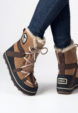 Sorel - GLACY EXPLORER SHORTIE - Snowboots  - light brown
