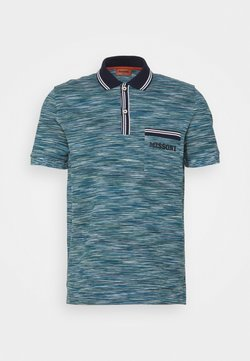 Missoni - MANICA LUNGA - Poloshirt - blue/dark green/white