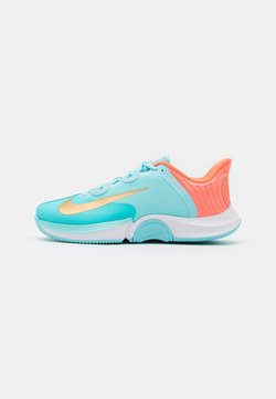 Nike Performance - COURT AIR ZOOM TURBO - Scarpe da tennis per tutte le superfici - copa/metallic gold/bright mango/white